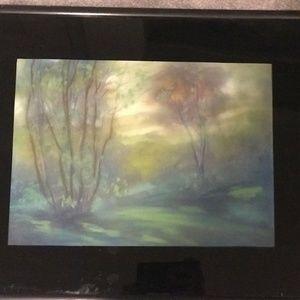 Original Leon Dolice Painting Framed Signed